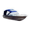 Ходовые тенты для лодок со штатными стеклами
