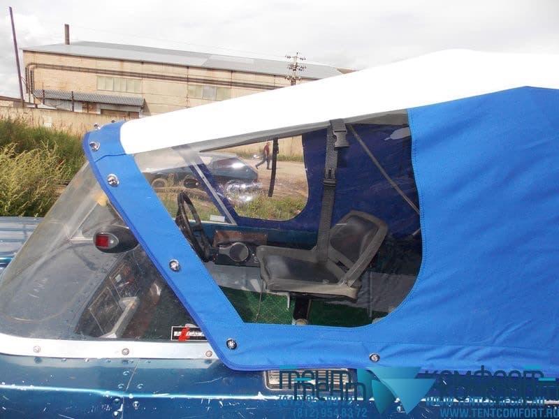 Тент для лодки с боковыми окнами
