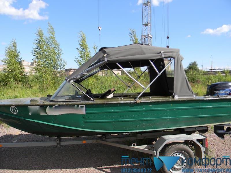 Поднимающиеся боковины ходового тента для лодки