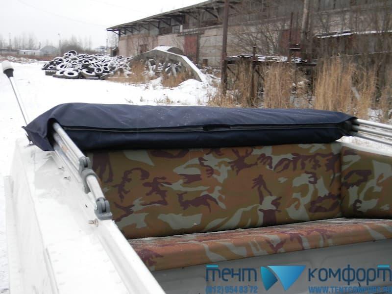 """Ходовой тент на Казанка-5М4 в положении """"Сложен"""""""