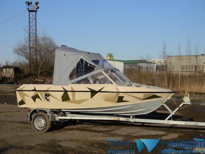 Ходовой тент на Крым-3 в положении