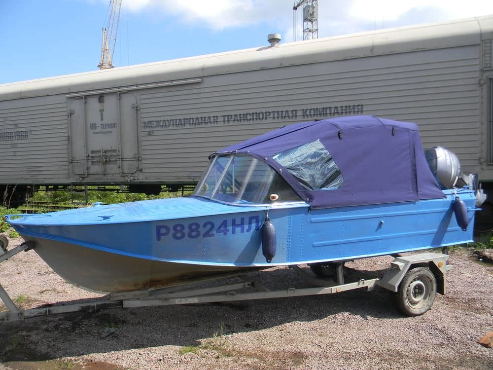 Ходовой тент для лодки Казанка-2М
