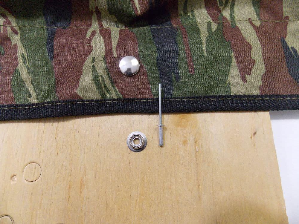 Установка тента с кнопкой