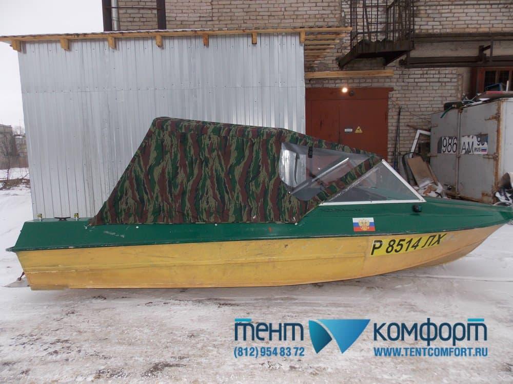 Тент для лодки Крым на штатные дуги
