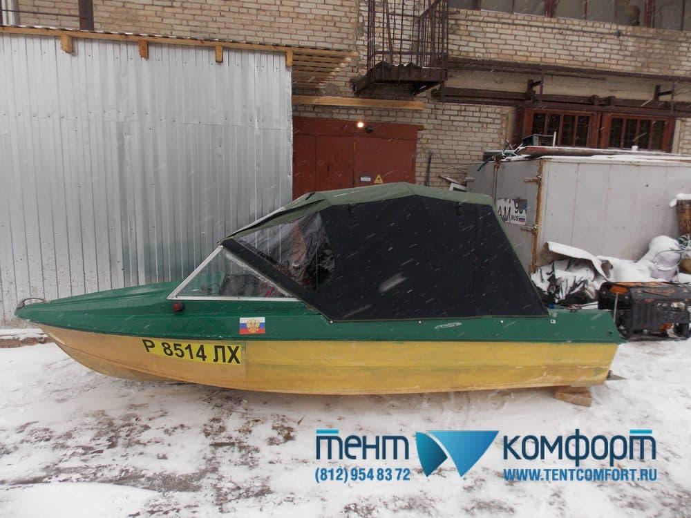 Тент  для лодки Крым на нештатные дуги