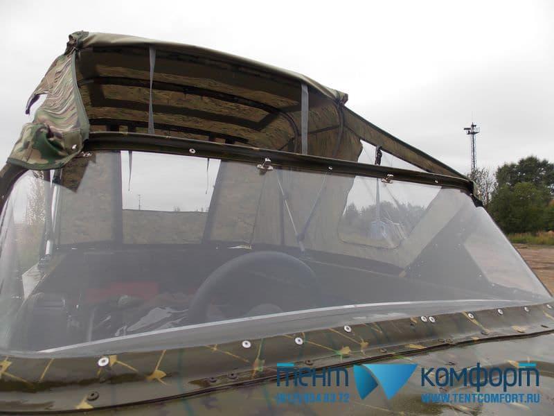 Стекло и тент на лодку Неман