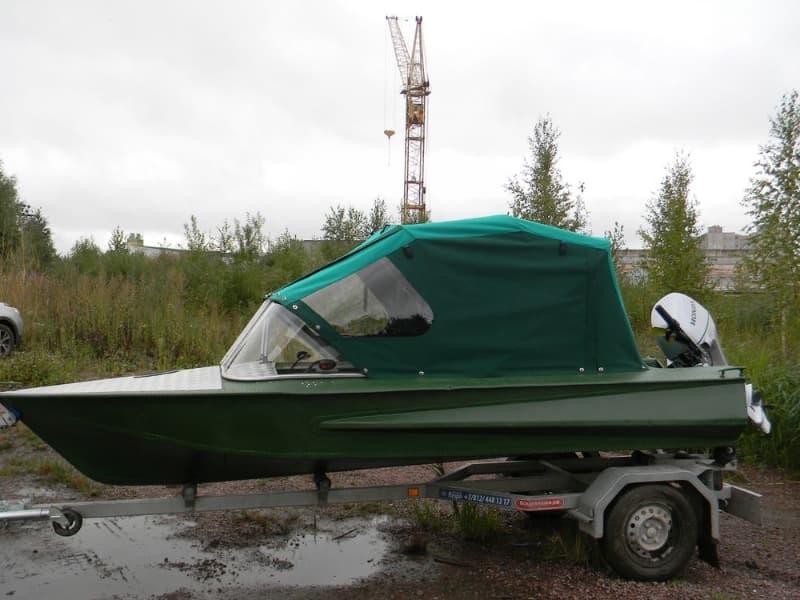 Ходовой тент для лодки Обь-1