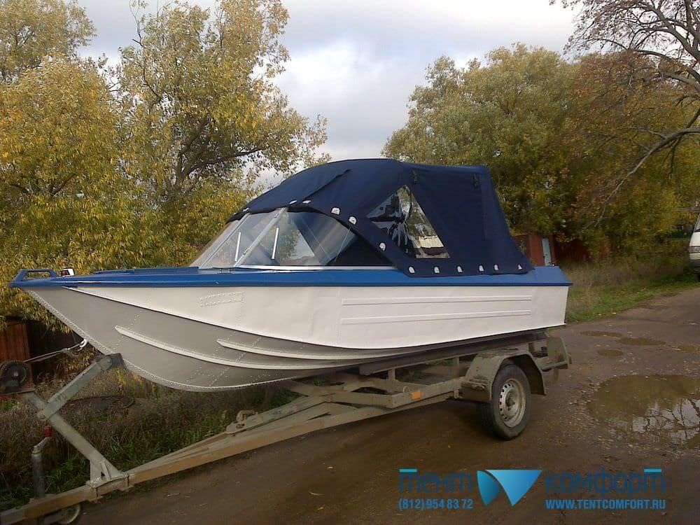Ходовой тент для лодки Ока-4
