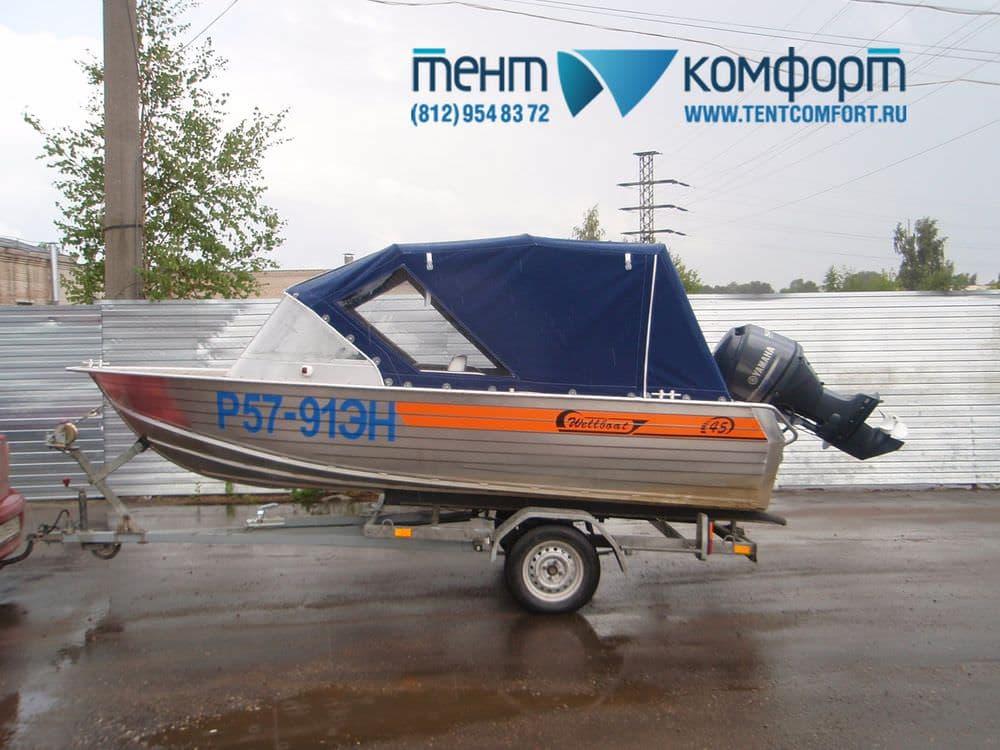 Тент на Wellboat-45