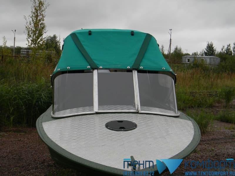 Клапан в крыше лодочного тента по ширине калитки стекла