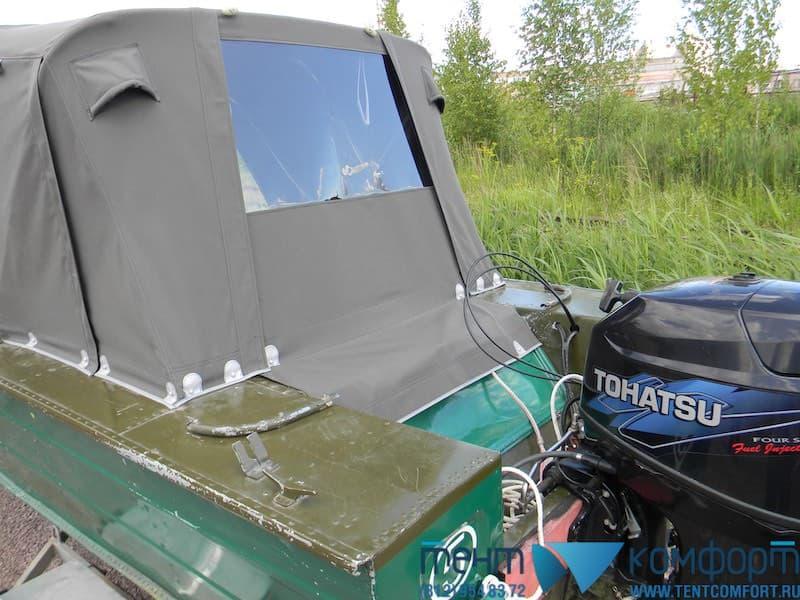 Тент для лодки с окном на заднем клапане