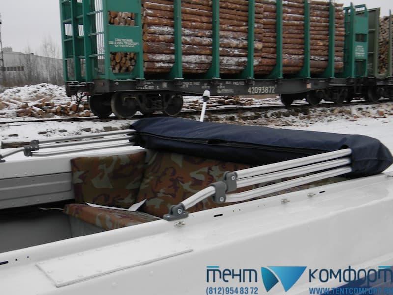 """Ходовой тент на Казанка-5м3 в положении """"Сложен"""""""