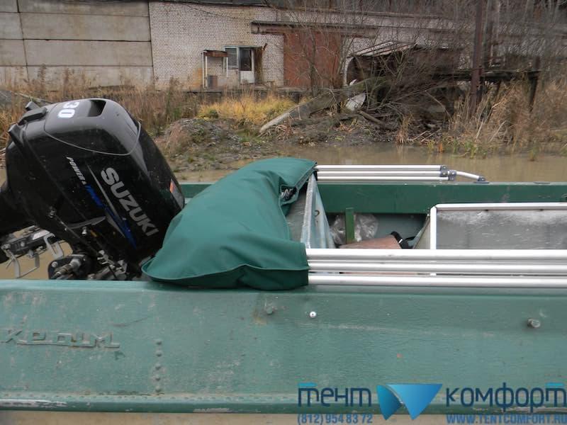 "Ходовой тент на Прогресс-3М в положении ""Сложен"""