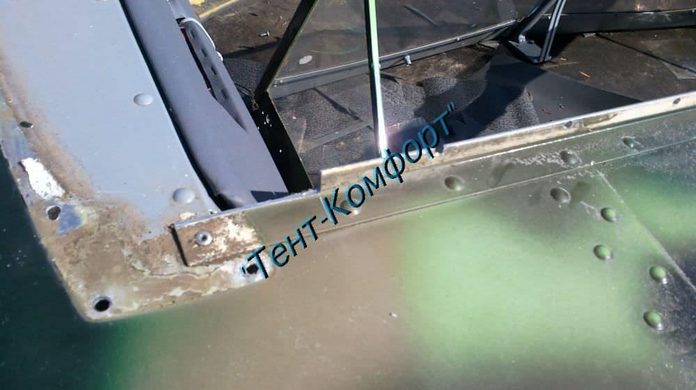установил стекло на лодку